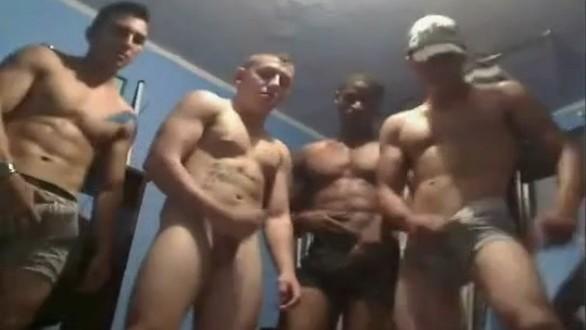 músculo trío gay