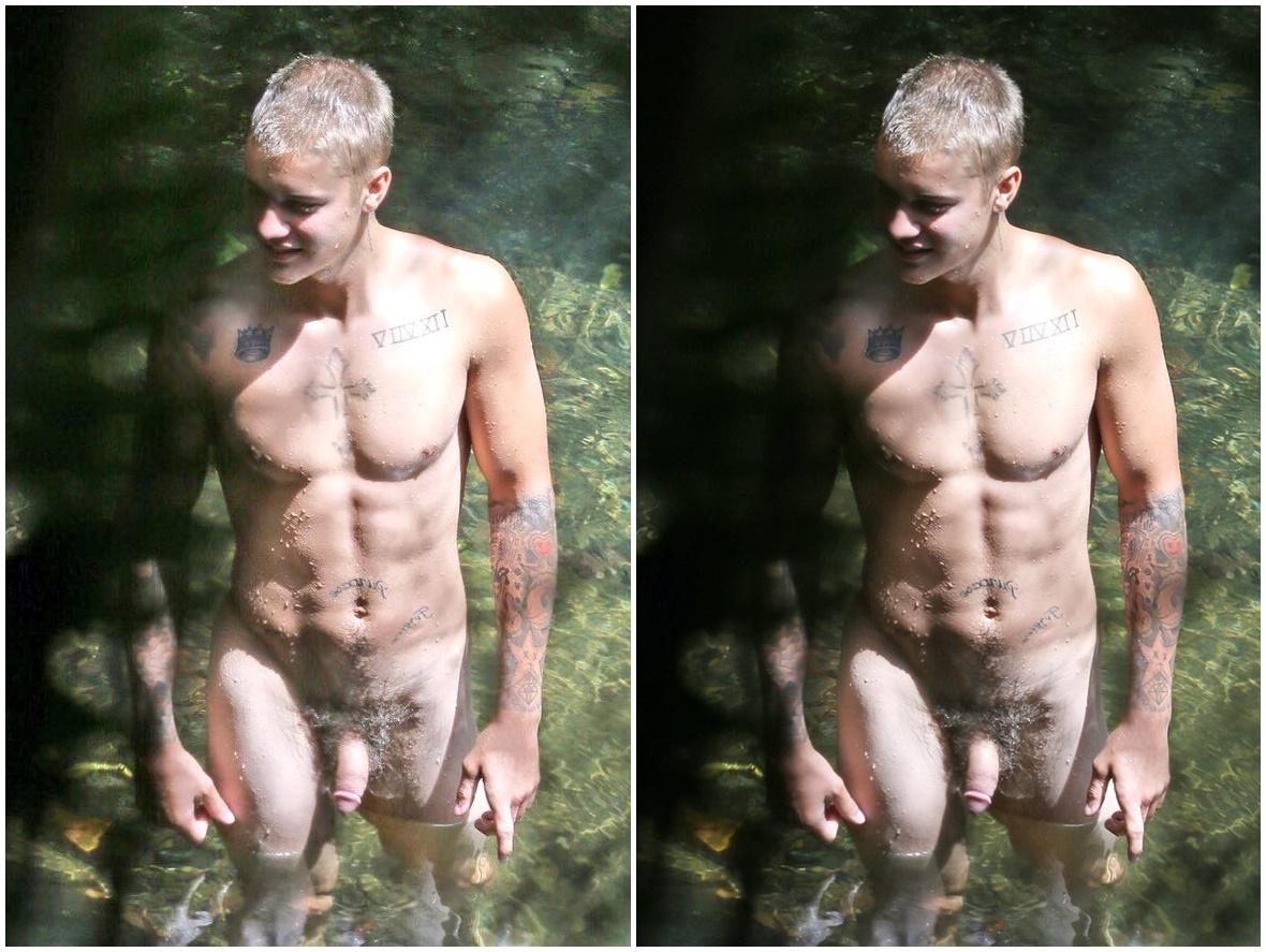 Justin Bieber Pelado - Naked