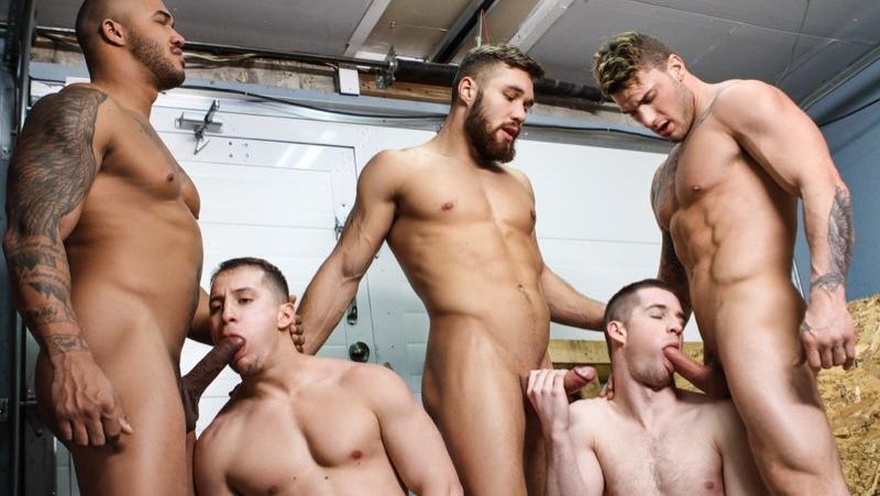 Men at Work (Jason Vario, William Seed, Morgan Blake, Thyle Knoxx and Joey Mentana)