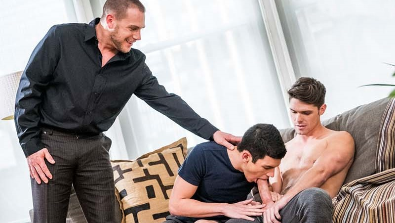 Hans Berlin Fucks Devin Franco and Ricky Verez in 'Daddy's Good Boy
