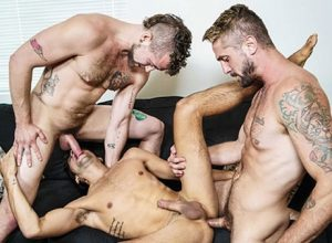 """Jay Austin and Wesley Woods fuck Titus in """"Living That Ho Life"""""""