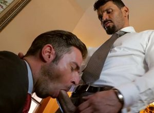 """Jean Franko pounds Dario Beck in """"Final Touches"""""""