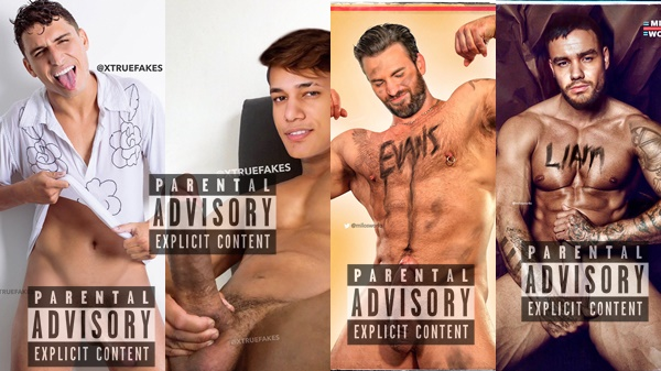 Felipe Prior, Alê Oliveira, Chris Evans, Liam Payne + | Fake Male Celebrity Nudes